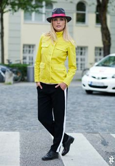 short jacket yellow