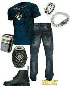 Men's fashion casual jeans outfit Men's fashion casual jeans outfit Teen Boy Fashion, Tomboy Fashion, Mens Fashion, Fashion Outfits, Jeans Casual, Jeans Denim, Jean Outfits, Cool Outfits, Casual Outfits