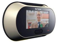 Easy and inexpensive Brinno digital peephole that works with the standard peephole in your door.