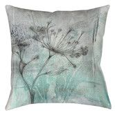 Found it at Wayfair - Ombre Wildflowers 1 Printed Polyester Throw Pillow