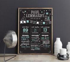 Deko-Objekte - Birthday Chalkboard - Geburtstags Tafel - ein Designerstück von bigdaygraphix bei DaWanda
