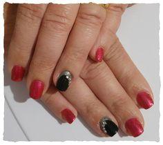 Rosso glitter (english red)nero strass