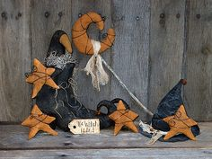 Witchy Gathering Ornies Fall Halloween Pattern