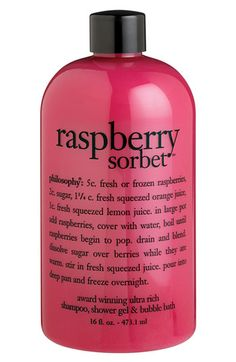 philosophy 'raspberry sorbet' award-winning ultra-rich 3-in-1 shampoo, shower gel & bubble bath | #Nordstrom