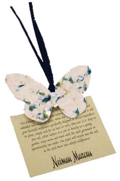I love this idea! especially for wedding invites or something. Help make the world a little brighter this #spring with seed paper giveaways! This one contains #ForgetMeNot seeds in a #butterfly shape. #PromoProducts