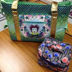 Sew Sweetness Sloan Travel Bag and Crimson and Clover Train Case