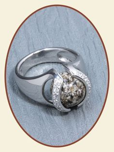 Close2Me© 'Always With Me' Sterling Silver Cremation Ash Ring