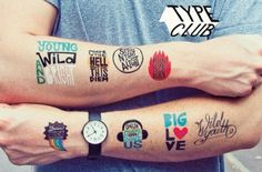 We are ink'd, tatuajes temporales (Yosfot blog)