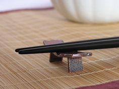 箸置き(緋銅) Japanese Chopsticks, Chopstick Rest, Kitchenware, Tableware, Tokyo 2020, Nippon, Japan Trip, The Beautiful Country, Pottery Ideas