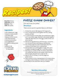 Penguin recepies | Club penguin cheats and tips by manija4 and smedi