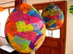 Giant Paper Mache Eggs DIY