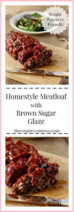 Brown Sugar Meatloaf With Ketchup Glaze Recipe . The Best Brown Sugar Glazed Meatloaf. Glazed Brown Sugar Meatloaf Dinner Then Dessert. Steak Recipes Stove, Meatloaf Recipes, Sprout Recipes, Easy Salad Recipes, Sloppy Joe Recipe With Bbq Sauce, Southern Meatloaf Recipe, Ground Turkey Meatloaf, Brown Sugar Meatloaf, Meatloaf Glaze
