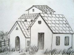 Simple Pencil Drawings of Houses | 6b one and sketchpad to draw different types of houses