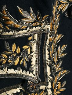 Coat Date: 1809 Culture: French Medium: wool, silk, metallic; embroidery detail.