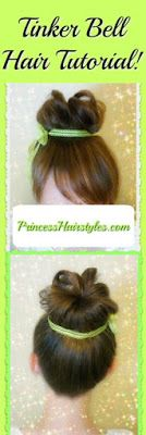 Tinker Bell Hair Tutorial With Faux Bangs Using Your Own Hair! Faux Bangs, Disney Princess Hairstyles, Belle Hairstyle, Tinker Bell Costume, Disney Inspired, Disney Trips, Beauty And The Beast, Hair And Nails, Girl Hairstyles