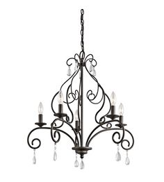 Kichler Marcele 5 Light Chandelier 1 Tier Medium in Olde Bronze 43448OZ #lightingnewyork #lny #lighting