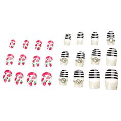 24pcs Strawberry Cute Zebra Diamond Glitter Sexy Young Multi Style Artificial Full False Nails Nail Art Tips -- Check out this great product.
