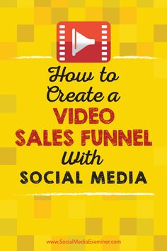 Do you use social media to generate revenue?  Serving social media video at the proper time can help a person go from lead to customer in a few simple clicks.  In this article, you'll discover how to use social media video to support your sales funnel.