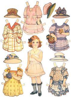 Bonecas de Papel: Bonecas de Papel Vintage