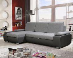 LATE fekete/szürke sarokkanapé bal oldali kivitelben Sofas, Couch, Furniture, Home Decor, Products, Armchairs, Ad Home, Gray, Living Room
