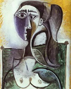 "Pablo Picasso - ""Portrait of a woman sitting"", 1960"