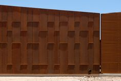 Central Arizona College / SmithGroupJJR. Coreten. Rusted steel paneling. Patterned facade.