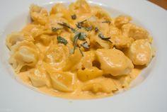 Pumpkin cheese tortelinni