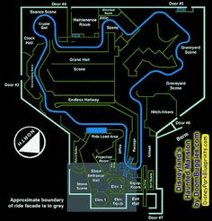 haunted mansion track layout at the magic kingdom in disney world Disneyland World, Disneyland Rides, Disney Rides, Vintage Disneyland, Disneyland Resort, Original Disneyland, Disneyland History, Disney Travel, Disney Theme
