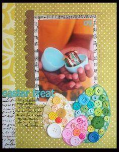 #papercraft #scrapbook #layout #Easter