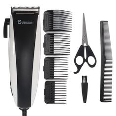Description:Item Type: Electric Hair ClipperBrand: SurkerModel: Black & WhitePower: Material: Stainless Guide Combs: Package x Electric Hair x Cleansing x Guide x Hair x x English Mannual Note: We will send you an adapter which according to your country. Montenegro, Puerto Rico, Sierra Leone, Hair Clippers & Trimmers, Manicure Y Pedicure, Funny Videos, Vintage Telephone, Uganda, Hair Tools
