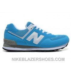 343ff0e5297f Discount New Balance 574 Mens White Light Blue Shoes