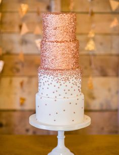 Gold Wedding Cakes Forget silver and gold, rose gold is THE wedding trend to know about. Here's how to incorporate it in your decor. - Forget silver and gold, rose gold is THE wedding trend to know about. Here's how to incorporate it in your decor. Rose Gold Theme, Gold Wedding Theme, Rose Wedding, Wedding Ideas, Wedding Decor, Wedding Trends, Fall Wedding, Purple Wedding, Wedding Shoes