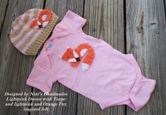 Baby Fox inspried Baby Girl Hat and Onesie   Set by NinisHandmades, $36.00