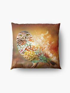 « Owl on Fire by GEN Z » par Gen-Z Owl, Cushions, Fire, Throw Pillows, Artwork, Floor Cushions, Toss Pillows, Toss Pillows, Work Of Art
