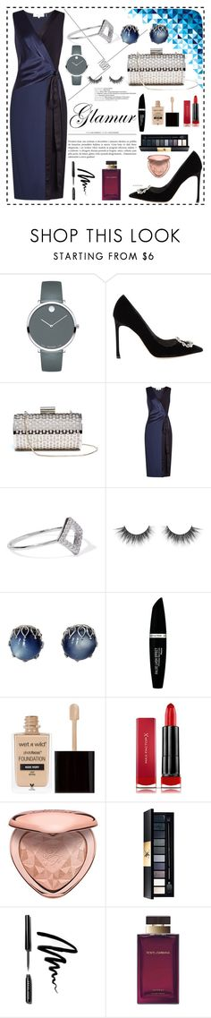 """Untitled #71"" by mz-maumau ❤ liked on Polyvore featuring Movado, Christian Dior, GUESS by Marciano, Diane Von Furstenberg, Noir Jewelry, Max Factor, Wet n Wild, Too Faced Cosmetics, John Lewis and Bobbi Brown Cosmetics"