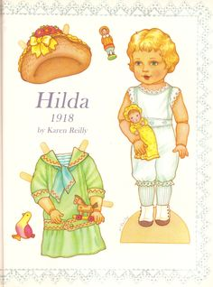 HILDA by artist Karen Reilly from Doll Reader / Costumes based on clothing from 1918 / 1 of 2