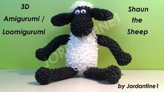 New 3D Shaun the Sheep Loomigurumi Amigurumi - Rubber Band Crochet - Rainbow Loom