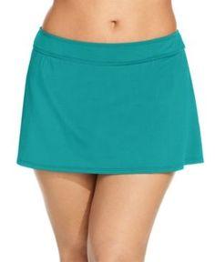 women's plus size slimming control swim skirt bottom - dreamsuit