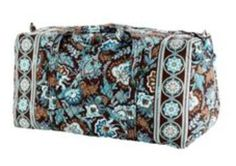 Take a trip down #VeraBradley lane with one of these overnight bags $45 #freeshipping #javablue