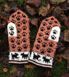 Ravelry: Dogpark (in English) pattern by Lena Bergsman. scarf for Grace Fair Isle Knitting, Knitting Socks, Hand Knitting, Knitting Patterns, Crochet Mittens, Mittens Pattern, Knitted Gloves, Wrist Warmers, Hand Warmers