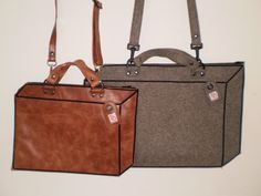 Always cute the ' 3D' bags from Sacha Wendt!  #Bags #Accessories #Fashion  http://www.sachawendt.nl/tassen.html