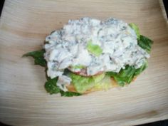Open face tarragon chicken salad sandwich