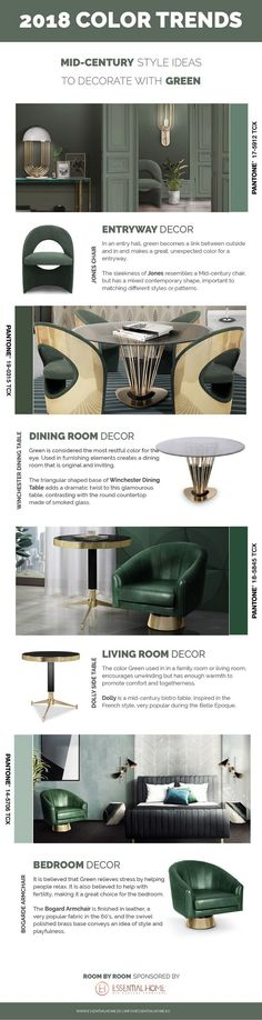 Discover the ultimate guide courtesy by Essential Home on how to decorate your lovely home using the color green ➤ To see more news about Wall Mirrors visit us at www.wallmirrors.eu #wallmirrors #interiordesign #Colortrends #essentialhome @essentialhomeeu @WallMirrorsBlog