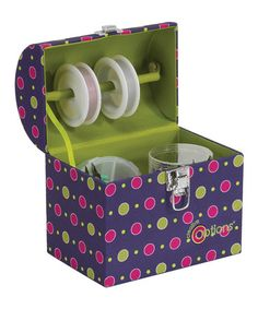 Take a look at this Purple & Green Crafters Treasure Trunk by Creative Options on #zulily today!