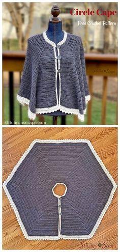 Crochet Cape Pattern, Crochet Shawl, Crochet Patterns, Ravelry Crochet, Cool Patterns, Knitting Patterns Free, Free Pattern, Mode Crochet, Crochet Tops