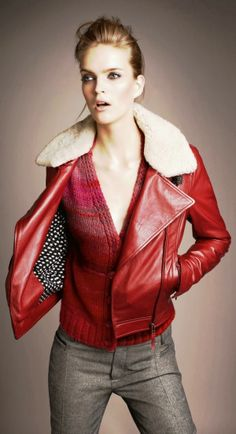 Gorgeous red jacket and cardigan combination v