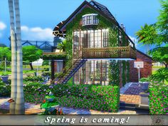 Luxurious, modern house for your Sims.  Found in TSR Category 'Sims 4 Residential Lots'