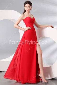 fancyflyingfox.com Offers High Quality Grecian Sweetheart Neckline A-line Floor Length Red Informal Evening Maxi Dresses ,Priced At Only US$158.00 (Free Shipping)