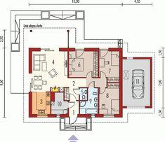 Kornel II z wiatą Energo - Rzut parteru Pergola, Gazebo, Exterior Design, Interior Inspiration, Floor Plans, House Styles, Projects, Modern Houses, Homes