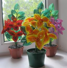 French Beaded Flowers from various Bead Artists featured in bead-Patterns.com Newsletter!